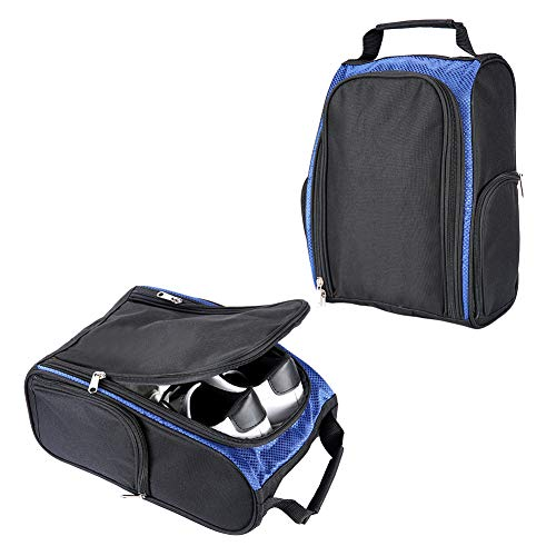 LONGCHAO Golf Shoes Bag Sport Bag - Travel Shoes Case Carry Tote Bag for Sport Golf Tennis and Other Accessories (Blue)