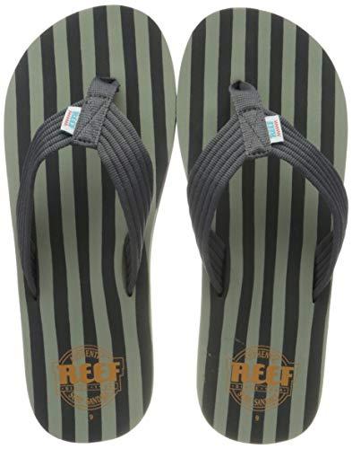 Reef Original Stripes, Chanclas Hombre, Gris/Verde, 43
