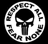 ShopForAllYou Stickers & Decals (White) Punisher...