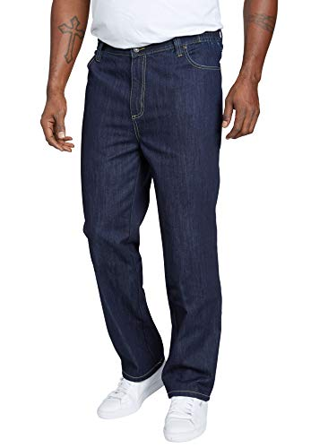 Liberty Blues Men's Big & Tall Relaxed-Fit Side Elastic 5-Pocket Jeans - Big - 64 38, Indigo