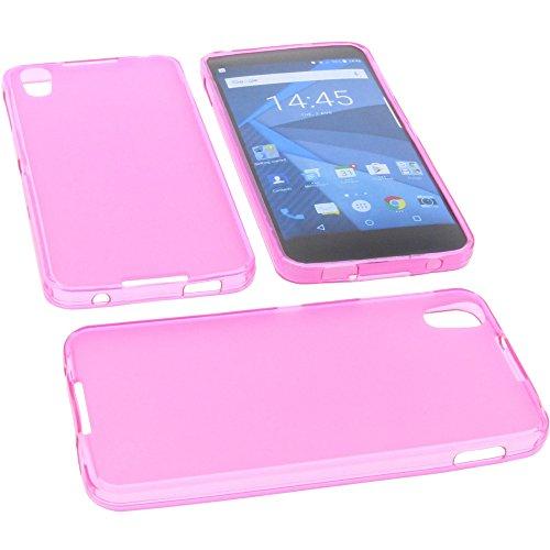 foto-kontor Tasche für BlackBerry DTEK50 Gummi TPU Schutz Handytasche pink