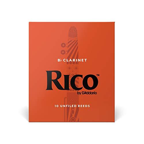RICOリードBbクラリネット強度:3(10枚入)アンファイルドRCA1030