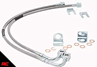 Rough Country 89702 Extended Stainless Brake Lines Front   (fits) 87-06 Jeep Wrangler YJ TJ / 84-01 Cherokee XJ   4-6