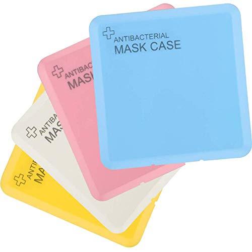 4 Packung Tragbare Masken-Aufbewahrungstasche, Staubmasken-Aufbewahrungsbox zur Vermeidung von Maskenverschmutzung… (4pack)