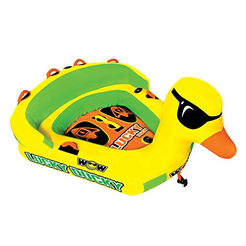 Buy Bargain WOW Watersports Lucky Ducky 19-1040, 1 to 2 Person Towable, Front and Back Tow Points â€...