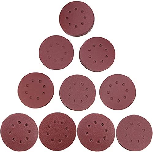 160 Pcs Round Sandpaper Discs 5 Inch 8 Hole Hook and Loop Sanding Discs Orbital Sander Sandpaper for Wood Sanding 40/80/100/120/150/180/240/320/400/600 Grit Sand Paper for Random Orbital Sander