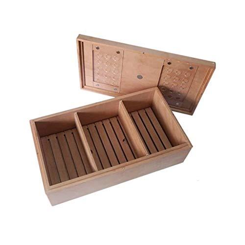 Snh0216 Gran capacidad 130 palitos de madera sólida pura espesado cedro gabinete de cigarro hidratante sellado caja hombre caja de regalo caja de cigarrillo caja de almacenamiento de caja de almacenam