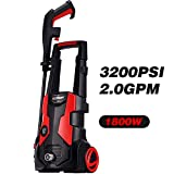 AOBEN 3200 PSI High Pressure Washer, 2.0 GPM Electric Power Washer with Spray Gun, Adjustable Nozzle, Long Hose, Quick Cleaning for Garden, Vehicle, Outdoor.