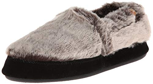 Acorn Women's Moc Slipper, Chinchilla, 6.5-7. 5