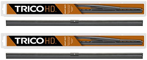 """2 Wiper Set - Trico 61-130 13"""" Wiper Blades Fit Heavy Duty Vehicles w/Flat Windshields & Saddle Attachment - If Vehicle Not In Amazon Garage Verify Fitment at www.TricoProducts.com Before Purchasing -  61-130 (x2)"""