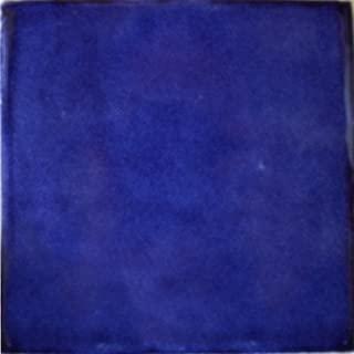Fine Crafts Imports 4.2x4.2 9 pcs Cobalt Blue Talavera Mexican Tile