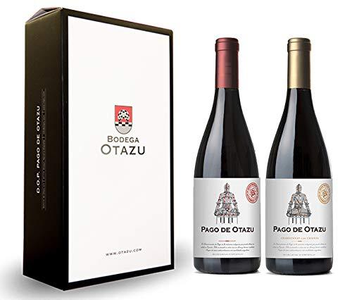 Pago de Otazu Tinto y Pago de Otazu Chardonnay. Estuche de 2 botellas.