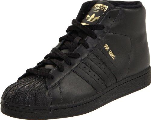 Adidas Promodel - Sneaker alte, da uomo, nero, 36