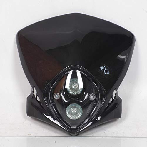 one by Camamoto cod. 77448129 maschera fanale faro anteriore di colore nero con faretti dicroche universale compatibile con moto enduro cross naked cafè race motard