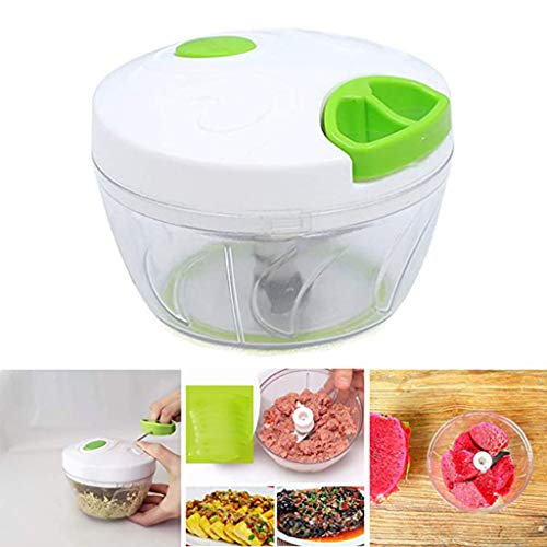 Food Chopper, Krachtige Handmatige Gehaktmolen Mixer/Blender Keuken Chopper Blender Groente Fruit Gehakte Hakselaars Snijmachines Processor (500ML)