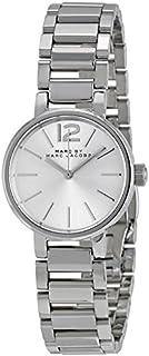 Marc Jacobs Women's Quartz Watch with Silver Stainless Steel Bracelet and Case Quartz Dial Silver Analog MBM3404