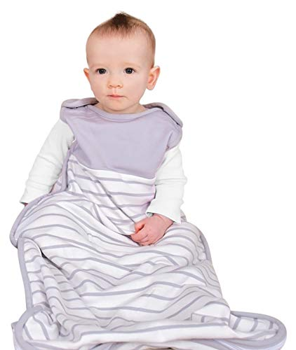 Antipodes Merino Saco de Dormir para bebé niño y niña - Invierno – Lana y algodón – tamaño Universal, 3 a 24 Meses (Gris)