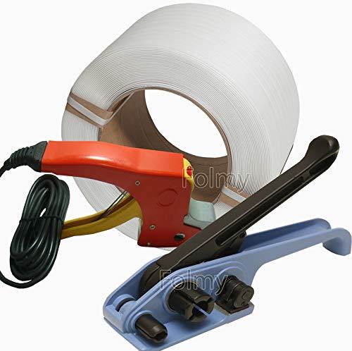 PP-Umreifungsset.12 mm. Umreifungsband 1000 lfm. 1 Spanner. 1 Schweißer. Nie wieder Umreifungsklemmen oder Hülsen.