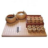 YYFANG 竹 エッチングリバーシブル 囲碁ゲームセット、 シングルコンベックスストーン-ボウル 古典的な中国の戦略ボードゲーム (Color : #A, Size : 47X44CMX5CM)