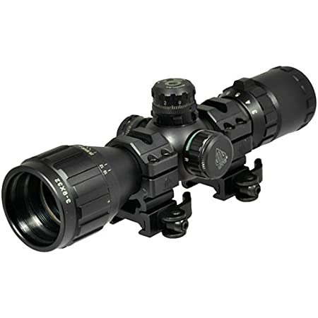 "UTG 3-9X32 1"" BugBuster Scope, AO, RGB Mil-dot, QD Rings , Black"