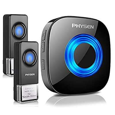PHYSEN Wireless Doorbell kit Operating at 1000ft Range,4 Volume Levels and 52 Melodies Chimes