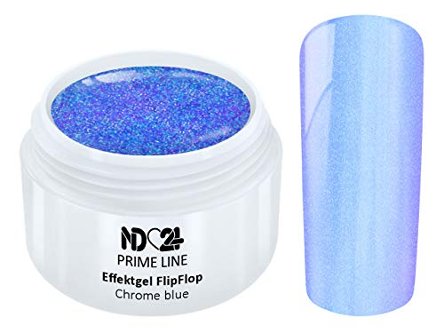 Prime Line - Uv Led Effekt Gel Flipflop Chrome Blue Blau - Made in Germany - 5ml