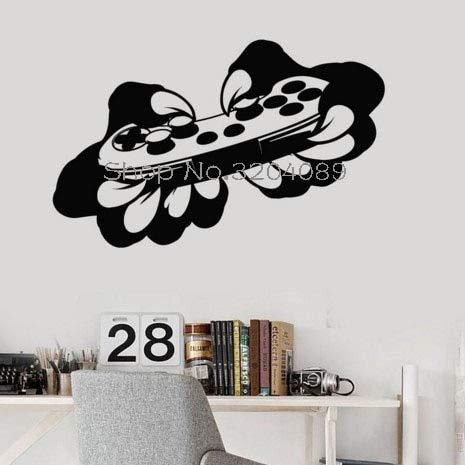Vinyl Wandtattoos Beast Gamer Joystick Videospiel Kinder Spielzimmer Aufkleber Wandbild Einzigartiges Geschenk PVC Dekoration 42X27CM