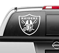 Las Vegas Raiders Skull Oakland Window Sticker Vinyl Decal for Car Window Bumper Truck Laptop, 5 Inch, 5 sizes and 3 colors to choose from