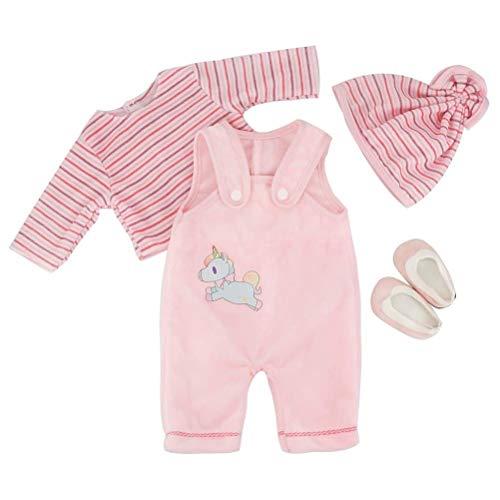 Puppen-Kleidungsset Niedlicher Einhorn-Druck Unsere Generation Puppen-Kleidung für 45 cm Neugeborene Babypuppen / 18-Zoll-Bitty-Babypuppen