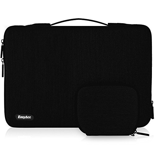 EasyAcc 15-15,6 Pollici Custodia Borsa PC Laptop Sleeve Case con Manico Sacchetto Protettiva per Notebook Ultrabook Lenovo Chromebook Yoga ThinkPad HP Sony ASUS Acer dell Nero