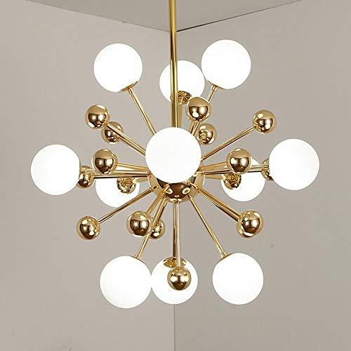 Moderne gouden glazen bol kroonluchter verlichting woonkamer keuken slaapkamer glans kroonluchter plafond LED decoratieve lampen