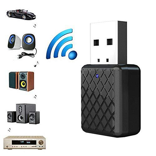 Hihey Bluetooth Ontvanger Muziek Ontvanger Draagbare 2 in 1 Audio Muziek Ontvanger zender Werkt met USB 5V DC-interface
