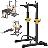 TCYLZ. Banco di Peso Regolabile Peso Multifunzione Sollevamento Pesi Gym Gym Palestra Regolabile Regolabile Squat Squat Rack, Supporto per la casa Multifunzione Bilanciere, Panca Robusta Attrezzature
