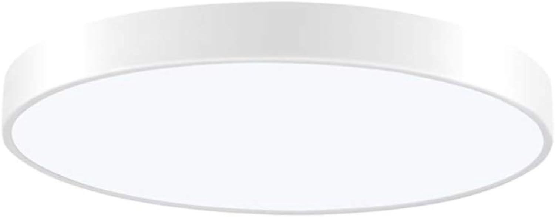 TYSYA Deckenleuchte 36W LED 3-Farben Dimmbar  50cm Ultradünne Deckenlampe für Innen, runde Deckenleuchten für Schlafzimmer Badezimmer Küche Flur Büro Treppenhaus Esszimmer,Weiß