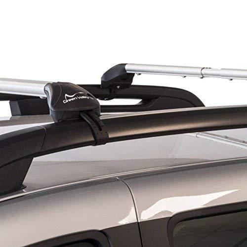 'Green Valley Freeline Barras de techo de aleación de aluminio 6060t6Complete de pies premontate pronte al uso en vehículos con barras longitudinali de tipo 'Standard (Railing abiertos).