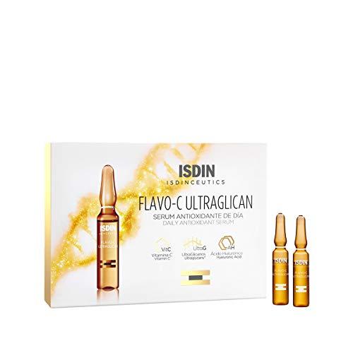 ISDIN Isdinceutics Flavo-C Ultraglican antioxidatives Tagespflege-Serum | Schützt die Haut vor Schäden durch freie Radikale | 10 x 2 ml in Einzelampullen