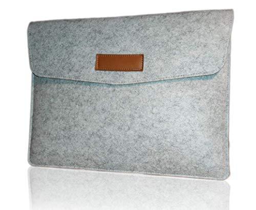 Nordic Style 13 Inch Felt Laptop Sleeve Case – Budget Edition – Light Grey