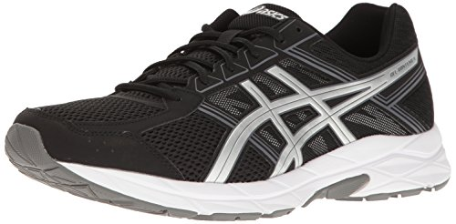 ASICS Men's Gel-Contend 4 Running Shoe, Black/Silver/Carbon, 10 4E US