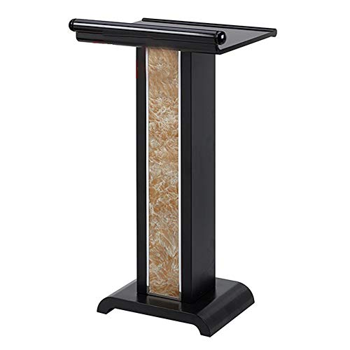 Yamyannie Rednerpult Lecture Schreibtisch Eingang Rezeption Welcome Desk for Büro Campus Hotel Stehpulte (Color : Black, Size : One Size)