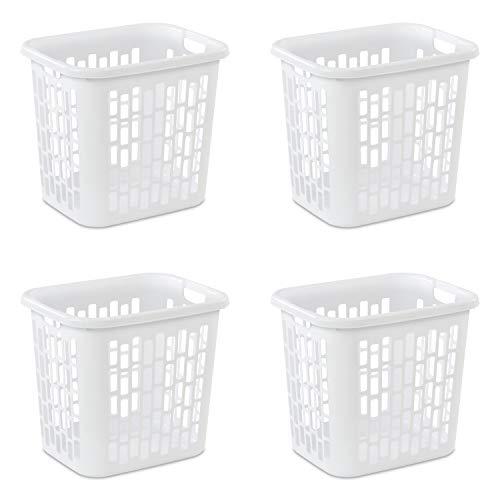 Sterilite 12318004 Laundry Hamper, White (4 pk.)
