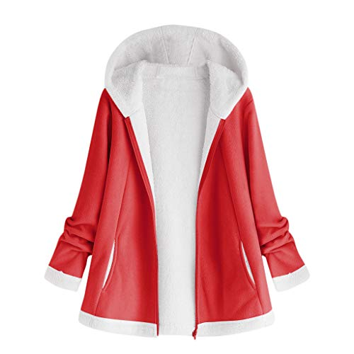 Review Of FengGa Womens Outwear Fashion Winter Pocket Zipper Long Sleeve Plush Hoodie Coat Overcoat ...