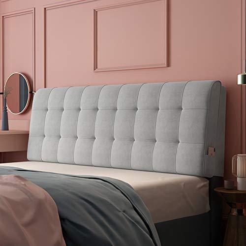 Almohadas de Lectura y Reposo en Cama, Soporte de posicionamiento del Respaldo, Cierre la Brecha Entre su colchón y la cabecera (Color : Gray, Size : 140cm x 60cm (4.5ft x 1.9ft))