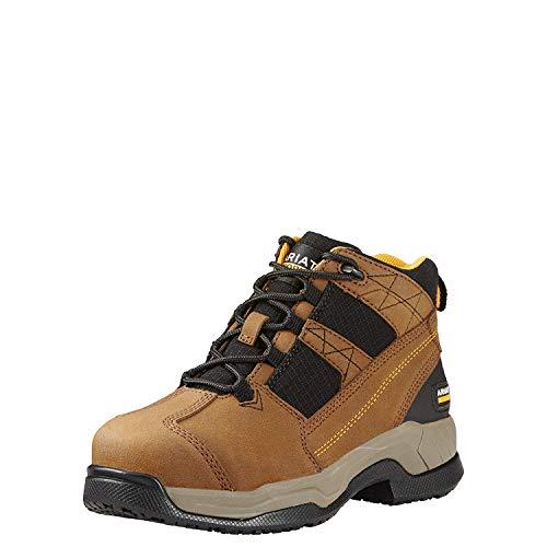 Ariat Women's Contender Steel Toe Work Boot, Brown, 10.5 C US