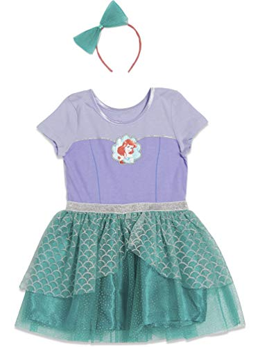 Disney The Little Mermaid Toddler Girls Costume Caped Gown Blue/Green 2T