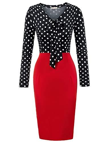 Belle Poque 50s - Vestido de Estilo Rockabilly, Estilo Vintage Bp953-1 S