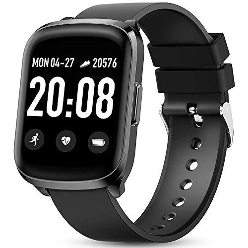 Smartwatch, Reloj Inteligente Mujer Hombre con Pantalla Grande De 1,3 Pulgadas, Pulsómetro, Calorías, Monitor De Sueño, Podómetro,Impermeable Smartwatch De Moda para Android iOS