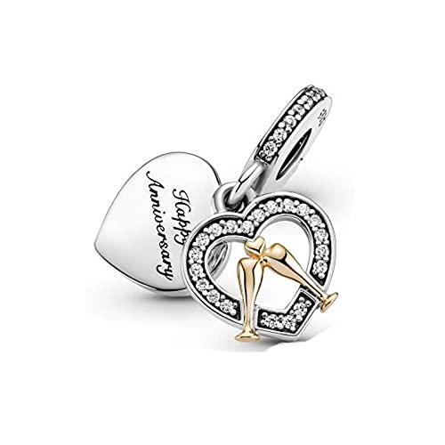 Pandora 925 Sterling Silver Jewelry CharmNew Beads Happy Birthday Swing Charm Fit Pulsera Original Fabricación de joyas para mujeres