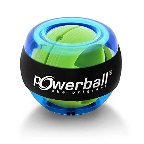 Powerball® the Original Basic gyroskopischer Handtrainer in transparent-blau inklusive Start-Schnur zur Starthilfe