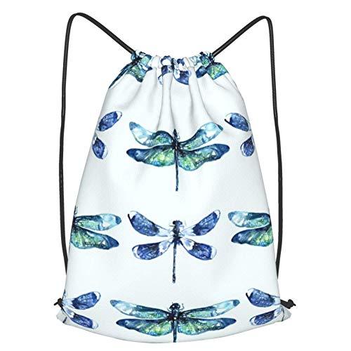 GYYbling Bolsas con cordón Dragonfly Wings Mochila con cordón, Beam Mouth Mochila de Viaje Escolar Mochila Ligera Bolsos de Hombro para Hombres y Mujeres