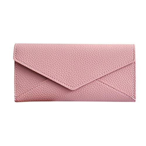Xzwzhqxs portemonnee van massief leer, lange luiertas, voor dames, merk Cash Phone